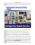 Refrigerator Service Center Jaipur PowerPoint PPT Presentation