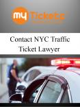 Contact NYC Traffic Ticket Lawyer PowerPoint PPT Presentation