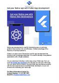 Get your Native app with Flutter App development PowerPoint PPT Presentation