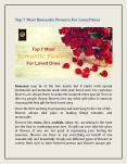 Top 7 Most Romantic Flowers For Loved Ones PowerPoint PPT Presentation