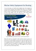 Marine Safety Equipment for Boating PowerPoint PPT Presentation