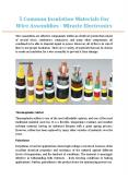 5 Common Insulation Materials For Wire Assemblies - Miracle Electronics PowerPoint PPT Presentation