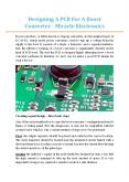 Designing A PCB For A Boost Converter - Miracle Electronics PowerPoint PPT Presentation
