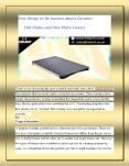 Few things to be known about Ceramic Hot Plates and Hot Plate Covers PowerPoint PPT Presentation
