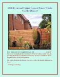 10 Different and Unique Types of Fences Widely Used for Homes!! PowerPoint PPT Presentation
