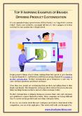 TOP 9 INSPIRING EXAMPLES OF BRANDS OFFERING PRODUCT CUSTOMIZATION PowerPoint PPT Presentation