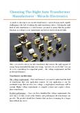 Choosing The Right Auto Transformer Manufacturer - Miracle Electronics PowerPoint PPT Presentation