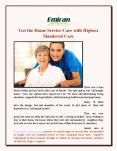 Get the Home Service Care with Highest Slandered Care PowerPoint PPT Presentation