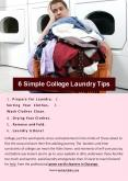 6 Simple College Laundry Tips PowerPoint PPT Presentation