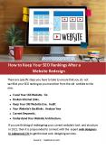 How to Keep Your SEO Rankings After a Website Redesign PowerPoint PPT Presentation