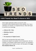 4 SEO Trends You Need To Know in 2021 PowerPoint PPT Presentation