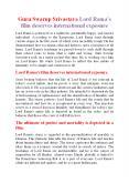 Guru Swarup Srivastava Lord Rama's film deserves international exposure PowerPoint PPT Presentation