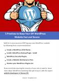 5 Practices to Keep Your DIY WordPress Website Fast and Secure PowerPoint PPT Presentation