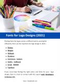 Fonts for Logo Designs (2021) PowerPoint PPT Presentation