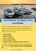 Top 5 Movies To Watch If You Love Boats PowerPoint PPT Presentation