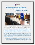 4 Easy steps to get cleaner office in a jiffy!! PowerPoint PPT Presentation