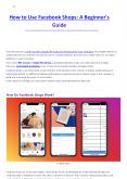 How to Use Facebook Shops: A Beginner's Guide PowerPoint PPT Presentation