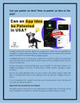 Can you patent an idea? How to patent an idea in the USA? PowerPoint PPT Presentation