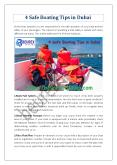 4 Safe Boating Tips in Dubai PowerPoint PPT Presentation
