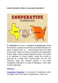 Indian Federalism: What is Cooperative Federalism? PowerPoint PPT Presentation