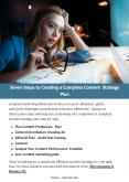 Seven Steps to Creating a Complete Content Strategy Plan PowerPoint PPT Presentation