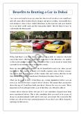Benefits to Renting a Car in Dubai PowerPoint PPT Presentation
