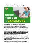 Online Home tuition In Bangalore PowerPoint PPT Presentation