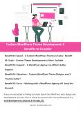 Custom WordPress Theme Development: 5 Benefits to Consider PowerPoint PPT Presentation