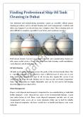 Finding Professional Ship Oil Tank Cleaning in Dubai PowerPoint PPT Presentation