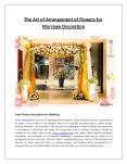 The Art of Arrangement of Flowers for Marriage Decoration PowerPoint PPT Presentation