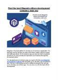 Find the best Magento eStore development company, near you