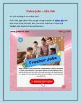 Online jobs – Jobs link PowerPoint PPT Presentation
