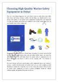 Choosing High Quality Marine Safety Equipment in Dubai PowerPoint PPT Presentation