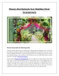 Flowers that Bedazzle Your Wedding Floral Arrangements PowerPoint PPT Presentation