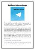 Best Forex Telegram Groups PowerPoint PPT Presentation