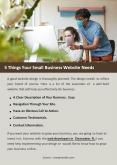 5 Things Your Small Business Website Needs PowerPoint PPT Presentation