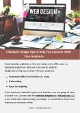 3 Website Design Tips to Help You Connect With Your Audience PowerPoint PPT Presentation