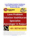 Love Problem Solution Vashikaran Specialist Astrologer in Raipur - Relationship tip PowerPoint PPT Presentation