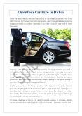 Chauffeur Car Hire in Dubai PowerPoint PPT Presentation
