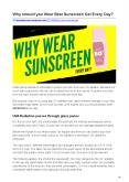 Why should you Wear Best Sunscreen Gel Every Day PowerPoint PPT Presentation