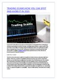 TRADING SCAMS:HOW YOU CAN SPOT AND AVOID IT IN 2021 PowerPoint PPT Presentation