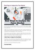 Best Ways to Analyse the Forex Market PowerPoint PPT Presentation