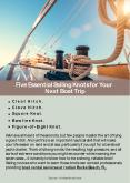 Five Essential Sailing Knots for Your  Next Boat Trip PowerPoint PPT Presentation