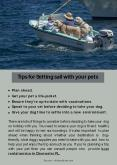 Tips for Setting sail with your pets PowerPoint PPT Presentation