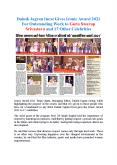Dainik Jagran Inext Gives Iconic Award 2021 For Outstanding Work to Guru Swarup Srivastava and 17 Other Celebrities PowerPoint PPT Presentation