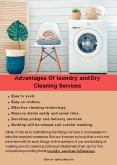 Advantages Of laundry and Dry Cleaning Services PowerPoint PPT Presentation