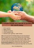 5 Simple Things You can Do to Protect the Earth Today PowerPoint PPT Presentation