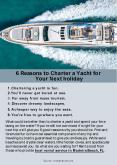 6 reasons to charter a yacht for your next holiday PowerPoint PPT Presentation