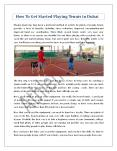 How To Get Started Playing Tennis in Dubai PowerPoint PPT Presentation