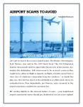 AIRPORT SCAMS TO AVOID PowerPoint PPT Presentation
